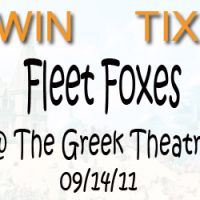 Win Tix To: Fleet Foxes w/ The Walkmen @ The Greek Theatre – Los Angeles,CA – 09/14/11