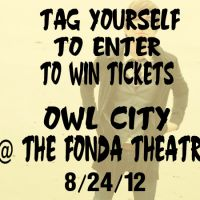 Win Tickets: Owl City @ The Fonda Theatre – 9/24/12