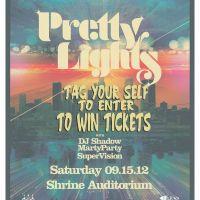Win Tickets: Pretty Lights w/ DJ Shadow @ The Shrine – Los Angeles, CA – 9/15/12