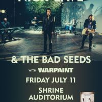 Win Tickets: Nick Cave & the Bad Seeds w/ Warpaint @ Shrine Auditorium – Los Angeles, CA – 7/11/14