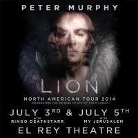 Win Tickets: Peter Murphy @ El Rey – Los Angeles, CA – 7/3, 7/5