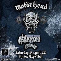 Win Tickets: Motörhead @ Shrine Expo Hall – Los Angeles, CA- 8/22/15