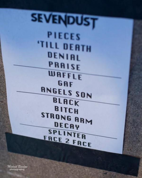 Sevendust Iowa-state-fair-setlist