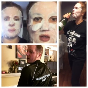 Backstreet Boys, champagne, Backstreet Boys merch, face mask